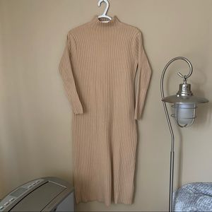 YesStyle Ribbed Knit Sweater Dress